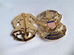 Wholesale Replica Police Cop Metal Badge High Quality Park Captain Police REPLICA Metal Badge Size mmX71mm