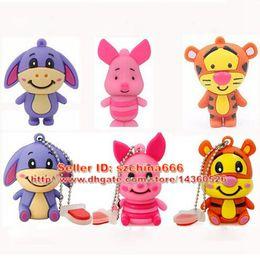 USB Flash Drive 8GB Pen Drive 4GB Pendrive 1GB 2GB 16GB Cartoon Cute Animal Donkey Pendrive USB 2.0
