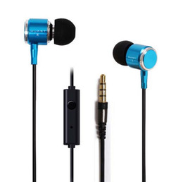 New Huast Great Sound 3.5mm Headset Noise Cancelling Headphones Super Bass Earphone With Mic For iphone Samsung Nfree shipping