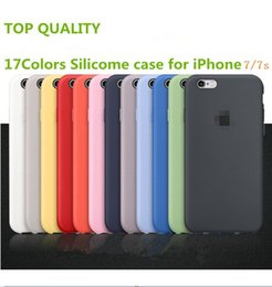 Wholesale new Retail Silicone Case for iPhone s plus Copy Official Colors Smart Back Protective Cover for iPhone6s with Logo and Retail Package