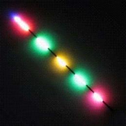 Acheter en ligne Flotteurs électroniques-Pêche Luminous électronique Tackle Outils Accessoires Flotteurs 1 # 2 # 3 # LED flotteur de pêche Avec The Bright Battery At Night