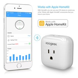 Wholesale Koogeek WiFi Smart Plug Apple HomeKit Support Siri Control P1 for Smart Home