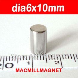 Round Bar Neodymium Magnet N52 Brand New Rod Strong Permanent Magnet (50pcs pack) Dia6x10mm, Free Shipping