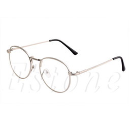 Wholesale-Retro Round Clear Lens Glasses Nerd Spectacles Women Men Eyeglass Metal Frame A46831