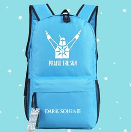 Stylish Dark souls backpack Praise the sun school bag Luggage daypack Quality schoolbag New game play day pack