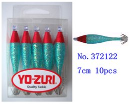 Креветки для рыб Онлайн-10шт / пакет, крючки для кальмара, приманка для приманки, синий, сутт 7см, 6см, 5см, 0.6мм, Япония, YO-ZURI, рыболовные снасти, креветки