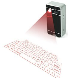 Wholesale Mini Portable Wireless Bluetooth Virtual Projector Laser Keyboard for Android Iphone Tablet PC in Keyboard Bluetooth Speaker Mouse