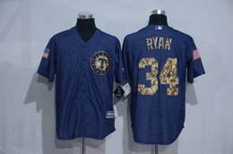 Wholesale New Texas Rangers Jerseys Mens Nolan Ryan Denim Blue Salute To Service Cool Base Baseball Jersey Allow Mix Order