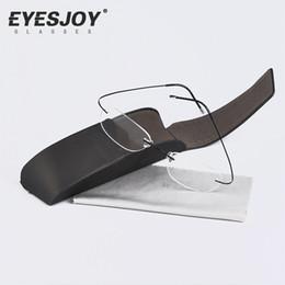 Wholesale Brand Silhouette Rimless Eyeglasses Titanium Frames Men Optical Glasses Ultra light Ultra Clear Lens Case Brand Arts Glasses SLH7612