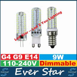 Promotion ampoule g9 conduit Dimmable G9 Led Ampoules 9W E14 G4 Led Lamp Spotlights 72LEDs smd 3014 High Brightness AC 110-240V