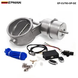 2.5'' 63mm Open NEW style Vacuum Exhaust Cutout Valve with Wireless Remote Controller Set TK-CUT63-OP-DZ