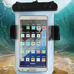 Universal Underwater Waterproof bag dry case clearly Swimming pouch with strap and armbrand for iphone 5 6 7 8 plus X