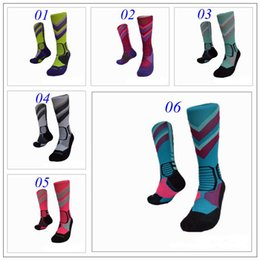 Wholesale 2016 Newest Basketball Socks Long Knee Athletic Sport Socks Men Fashion Compression Thermal Winter Socks Outdoor Sports Protective Gear