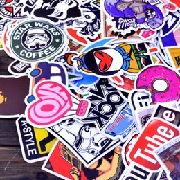 Wholesale 200 mix Stickers Skateboard Sticker Graffiti Laptop Luggage Vinyl Car Decals