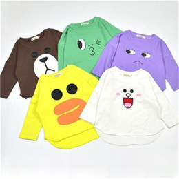2017 New Style Cartoon Baby Clothes Cotton Long Sleeve children T-shirt Cute Baby clothing Autumn Newborn Clothes