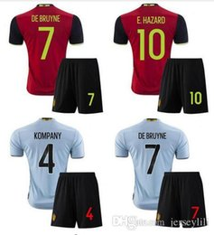 Wholesale Belgium Soccer jerseys kits Home Away Maillot De Foot set Shirt Belgium Soccer Jersey size extra small XXL xl Stitched