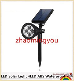 LED Solar Light 4LED ABS WaterproofIP44 Solar Power Energy Garden outdoor Ligh RGB WarmWhite White led solar lamp