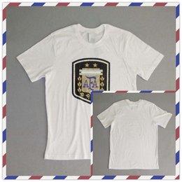 Wholesale Cheap Argentina Football Jerseys - Cheap 2016 Argentina White Colors #10 MESSI Football tShirt soccer shirt Jersey Training shirt fashion T-Shirt