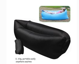 0.8kg Newest Inflatable sleeping bag inflatable lazy Air Bean Bag Chair nylon ripstop camping laybag portable air sofa bed