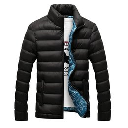 Wholesale Winter Jacket Men Cotton Blend Coats Zipper Mens Jacket Casual Thick Outwear For Men Asia Size XL Clothing Male EDA104