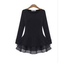 Wholesale Women Dress Drop Ship Autumn Knit Big Yards Couture Euramerican Style Show Thin Render Unlined Upper Garment Leisure Knitting