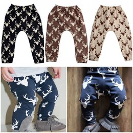 Wholesale 2016 New Hot Sale Infant Baby Boys Girls Deer Bottom Pants Tights Leggings Harem Pants Trousers Y