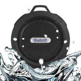 C6 Waterproof Bluetooth Speaker Portable Hook Up Shockproof Speakers Outdoor Sport Wireless Speakers Waterproof Outdoor Shower Car Speakers