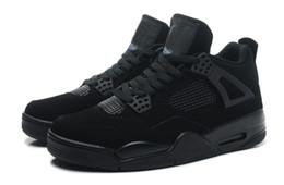 Wholesale New dan s Retro IV All Black Mens Basketball shoes air dan s black dan retro shoes offer drop shipping