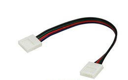 10mm 4pin Two Connector Jumper with Cable Solderless for SMD 5050 RGB LED Lamp Strip Light Rope Ribbon 10pcs Dropshipping