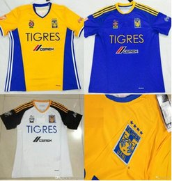 Wholesale 16 Mexico club Tigres home away jerseys fans jerseys football jersey soccer Uniforms Customized fans jersey mixed order DHL