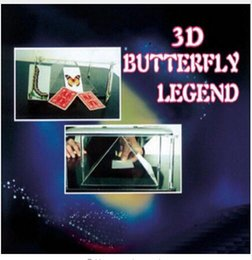 2014 3D Butterfly Legend - magic Trick, Butterfly magic,magic tricks,props,comedy,gimmick,accessories