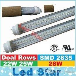 Wholesale 4FT Led Tubes Single Row W W Double Rows W W T8 Led Light regular Tubes AC V CE ROHS UL