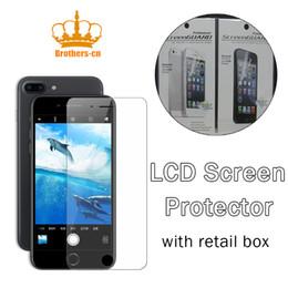 Promotion nouveaux écrans lcd Protecteur d'écran pour iphone 7 7plus Samsung Nouveau Film anti-éblouissement transparent anti-éblouissement mat LCD avec chiffon de nettoyage