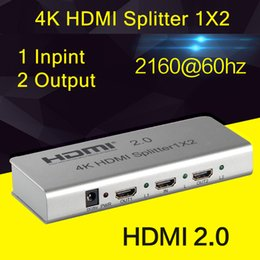 Wholesale 4K HDMI Splitter X2 HDMI Adapter input output build in EDID function IR TX Extension Interface