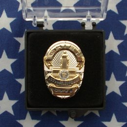 Wholesale United States Los Angeles LAPD badge badge mini minded Los Angeles chapter badge medal metal badge trumpet