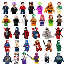 Wholesale 2016 New Marvel Super heros Minifigures Suicide Squad Joker Harley quinn Two Face Scarecrow Starfire building blocks toys bricks