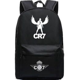 Wholesale Cristiano Ronaldo backpack CR7 Football Club school bag C Footballer soccer star hot sale day pack Quality daypack
