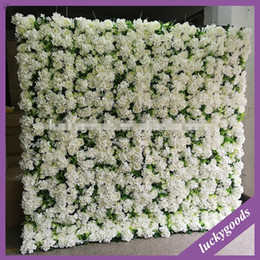 Wholesale EMS Artificial silk rose grass flower wall wedding background lawn pillar flower road lead home market decoration