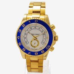 Wholesale NEW Top Quality Luxury Watches Brand New YACHT MASTER II Stainless Steel Mens Quartz Watch Men s Move Chronograph