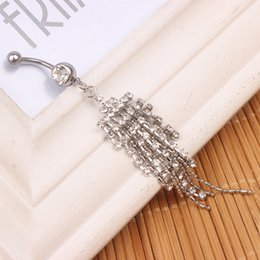 Wholesale newest nice style navel belly ring clear color stone drop shipping piercing jewelry body jewelry