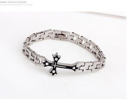 Wholesale 2016 New Hot Sale Fashion Jewelry New Bible Cross Chain Man Titanium Steel Bracelets Bangles For Men