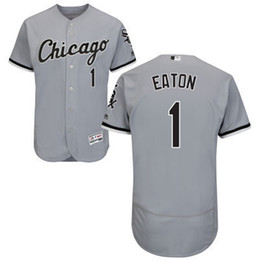 Wholesale Chicago White Sox Adam Eaton David Robertson Majestic MLB Baseball Jerseys Black White Gray Mens Size S M L XL XXL XXXL