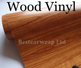 NEW WoodGrain Vinyl - Car wrap Vinyl Brown wood grain Film With Air Release Car stickers For Vehicle graphic covers Size:1.52*20M Roll