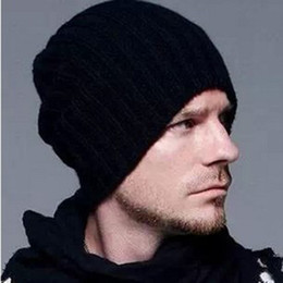 2Pcs Per Lot Beckham knitting hat hot sale Men and women fashion hat for winter Beanie Skull Caps wholesale