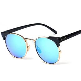 Descuento espejo de cristal clásico Classic Media metal gafas de sol mujeres de los hombres a estrenar las gafas de espejo Gafas de sol de la manera Gafas Gafas de Sol UV400 Eyewear