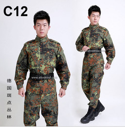 Wholesale German flecktarn camo military uniform camouflage suit CS paintball army clothing emerson combat shirt pants tactical jacket
