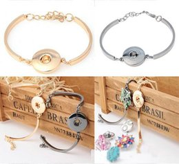 Wholesale Hot sale Vocheng NOOSA Trend Jewelry Interchangeable mm Ginger Snaps Button in Charm stretch able Bracelet
