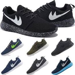 Wholesale 2016 Original Fashion Men s Women s Roshe Runn shoes Lightweight London Olympic Athletic Outdoor Running shoes