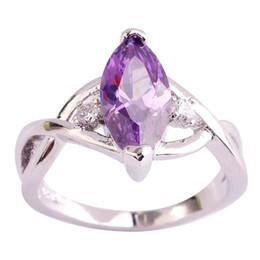 Wholesale Fashion Amethyst 925 Silver Ring Size 6 7 8 9 10 11 Women Gems Jewelry Free Shipping