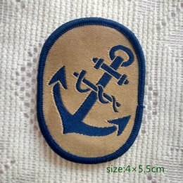 Retro Boat Anchor Navy Sailing Sew On Patch Shirt Trousers Vest Coat Skirt Bag Kids Gift Baby Decoration